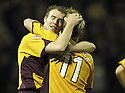 01/12/2007      Copyright Pic: James Stewart.File Name : sct_jspa10_motherwell_v_gretna.DAVID CLARKSON CELEBRATES AFTER HE SCORES MOTHERWELL'S THIRD.James Stewart Photo Agency 19 Carronlea Drive, Falkirk. FK2 8DN      Vat Reg No. 607 6932 25.Office     : +44 (0)1324 570906     .Mobile   : +44 (0)7721 416997.Fax         : +44 (0)1324 570906.E-mail  :  jim@jspa.co.uk.If you require further information then contact Jim Stewart on any of the numbers above.........