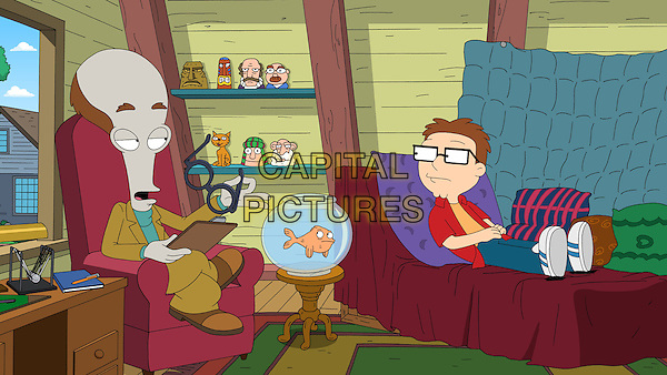 American Dad! (2005 - )<br /> (Season 7)<br /> Roger (Seth MacFarlane) acts as the Smith family therapist under his &quot;Dr. Penguin&quot; alter-ego.<br /> *Filmstill - Editorial Use Only*<br /> CAP/KFS<br /> Image supplied by Capital Pictures