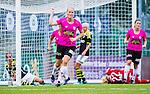 Solna 2014-08-16 Fotboll Damallsvenskan AIK - Kopparbergs/G&ouml;teborg FC :  <br /> Kopparbergs/G&ouml;teborgs Annica Sj&ouml;lund jublar efter sitt 0-2 m&aring;l<br /> (Foto: Kenta J&ouml;nsson) Nyckelord:  AIK Gnaget Kopparbergs G&ouml;teborg Kopparbergs/G&ouml;teborg jubel gl&auml;dje lycka glad happy