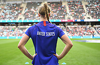 Saint Paul, MN - SEPTEMBER 03: Becky Sauerbrunn #4 of the United States during their 2019 Victory Tour match versus Portugal at Allianz Field, on September 03, 2019 in Saint Paul, Minnesota.