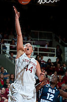 STANFORD, CA - NOVEMBER 17: Joslyn Tinkle lays up a basket as Stanford hosted Old Dominion University at Maples Pavilion. The Cardinal defeated Big Blue 97-48.