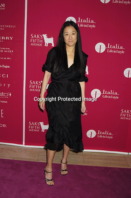 Vera Wang ..at the launch of  Wild About Cashmere Party at Saks Fifth Avenue benefitting The Central Park Conservancy  on September 20, 2005...Photo by Robin Platzer, Twin Images