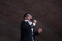 SAO PAULO, SP, 01 DE MAIO DE 2013 - FESTA CUT NO ANHANGABAÚ - Leonardo durante Festa do Dia do Trabalho na praça do Anhangabaú em São Paulo, nesta quarta-feira, 01. FOTO: MARCELO BRAMMER / BRAZIL PHOTO PRESS