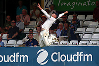 Tom Westley of Essex leaps and goes close to taking a catch on the boundary during Essex CCC vs Warwickshire CCC, Specsavers County Championship Division 1 Cricket at The Cloudfm County Ground on 21st June 2017