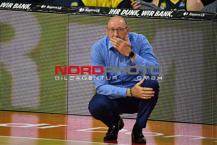 Mladen DRIJENCIC (Trainer Ol),<br /> skeptisch,<br /> <br /> Basketball 1.Bundesliga,BBL, nph0001-Finalturnier 2020.<br /> Viertelfinale am 18.06.2020.<br /> BROSE BAMBERG-EWE BASKETS OLDENBURG,<br /> Audi Dome<br /> <br /> Foto:Frank Hoermann / SVEN SIMON / /Pool/nordphoto<br /> <br /> National and international News-Agencies OUT - Editorial Use ONLY