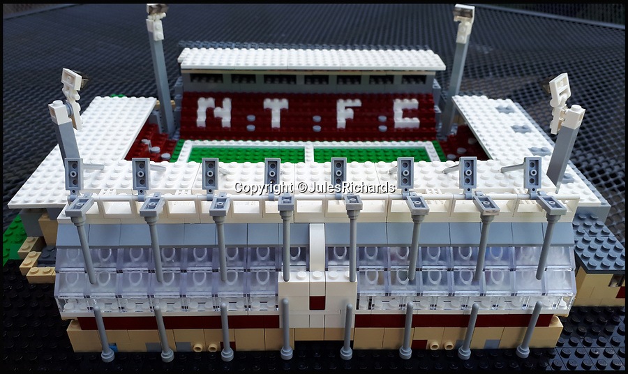 BNPS.co.uk (01202 558833)<br /> Pic: JulesRichards/BNPS<br /> <br /> Northampton Town's Sixfields Stadium.<br /> <br /> Here lego, here lego, here lego...<br /> <br /> A supermarket manager is building all 92 Football League grounds out of Lego.<br /> <br /> Jules Richards built his first stadium out of Lego he found in his loft one afternoon 18 months ago and he is now over two thirds of the way to completing all 92 Premier League, Championship, League One and League Two grounds.<br /> <br /> The 44 year-old spends up to 12 hours on each stadium and uses on average 1,300 Lego blocks to make them look uncannily similar to the real thing.