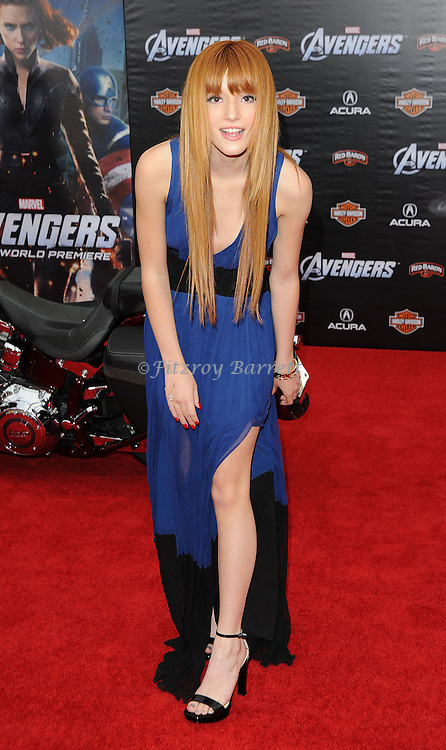 Bella Thorne at the premiere of Marvel's The Avengers, held at El Capitan Theatre in Hollywood,  CA. April 11, 2012