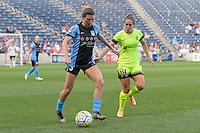Chicago, IL - Sunday Sept. 04, 2016: Arin Gilliland, Manon Melis during a regular season National Women's Soccer League (NWSL) match between the Chicago Red Stars and Seattle Reign FC at Toyota Park.