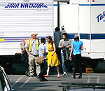 AbilityFilms@yahoo.com.805-427-3519.www.AbilityFilms.com...March 26th 2012 ..Mandy Moore filming her new tv pilot in Los Angeles wearing a yellow dress..AbilityFilms@yahoo.com.805-427-3519.www.AbilityFilms.com