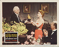 All About Eve (1950)<br /> Lobby card with Anne Baxter<br /> *Filmstill - Editorial Use Only*<br /> CAP/KFS<br /> Image supplied by Capital Pictures