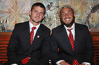 Perry Kitchen and Nick DeLeon of D.C. United during the 11th Annual Kickoff luncheon, at The Hamilton Live DC in Washington DC , Tuesday March 5, 2013.