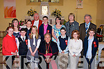 Pupils from Ballyfinnane National School who were confirmed by the Bishop of Kerry Bill Murphy in St Gobnait's Church, Keel, Castlemaine on Friday were Heather Grey, Joanne Browne, Aisling O'Neill, Gemma Teahan, Cathal O'Connor, Eoin O'Brien, Aidan O'Connor, Jonathan Dunleavy and Killian Corbett, pictured with their teachers Muireann Clifford, Eileen Daly and Principal Kieran Kelliher with Fr Luke Roche.