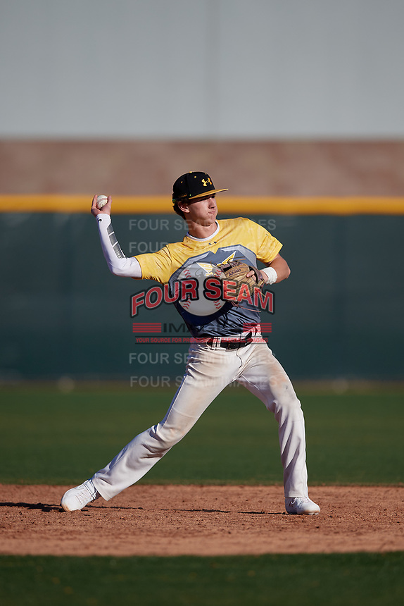 Brayton Wilmes during the Under Armour All-America Tournament powered by Baseball Factory on January 18, 2020 at Sloan Park in Mesa, Arizona.  (Mike Janes/Four Seam Images)