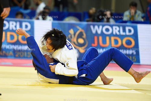 Misato Nakamura (JPN), AUGUST 25, 2015 - Judo : World Judo Championships Astana 2015 Women's -52kg 3rd round at Alau Ice Palace in Astana, Kazakhstan. (Photo by AFLO SPORT)