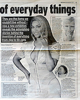Daily Express<br /> Beyonce by RKE<br /> 40903<br /> tearsheet