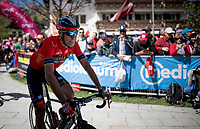 Vincenzo Nibali (ITA/Bahrain-Merida) at the start<br /> <br /> Stage 18: Valdaora/Olang to Santa Maria di Sala (222km)<br /> 102nd Giro d'Italia 2019<br /> <br /> ©kramon
