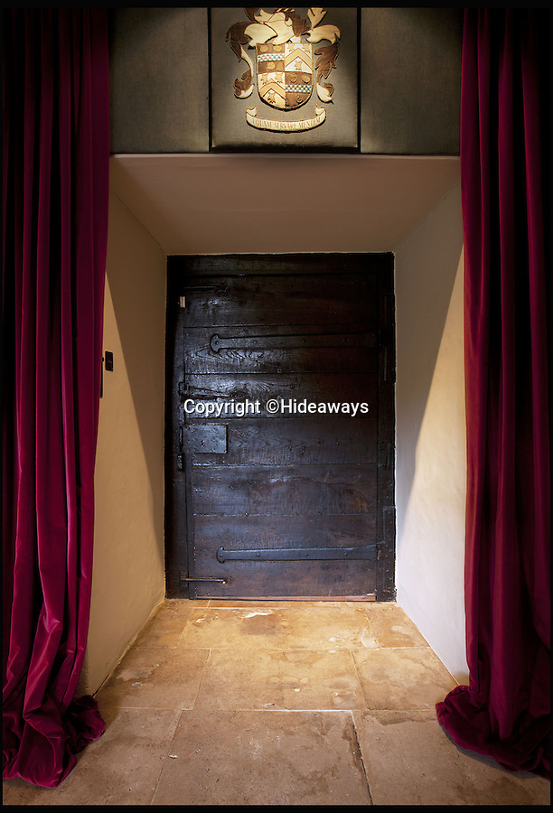 BNPS.co.uk (01202 558833)<br /> Pic: Hideaways/BNPS<br /> <br /> Period features - old front door.<br /> <br /> You can now live like a king... but it will cost you £6,000 a week!<br /> <br /> This stunning historic house offers the ultimate 'Lord of the Manor' experience - but you'll need deep pockets to enjoy the life of luxury.<br /> <br /> The Grade II* listed King John's House has eight opulent bedrooms and exquisite period features dating back to medieval times, but staying there will set you back a whopping £5,682 per week.<br /> <br /> The site in Tollard Royal, Wiltshire, was once a Royal hunting lodge used by King John in the early 13th century but since the death of the last owner William Gronow Davis last year it has now become a very exclusive rental property for groups wanting to celebrate a milestone birthday or anniversary in style.
