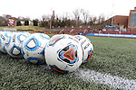 SALEM, VA - DECEMBER 3:Soccer balls line up for pregame warmups before theDivision III Men's Soccer Championship held at Kerr Stadium on December 3, 2016 in Salem, Virginia. Tufts defeated Calvin 1-0 for the national title. (Photo by Kelsey Grant/NCAA Photos)