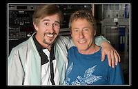 Alan Partridge (Steve Coogan) & Roger Daltrey CBE - for a Teenage Cancer Trust DVD - Unique Facilities, Lisson Street, London NW1 - 21st July 2005