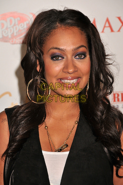 LALA VASQUEZ.Maxim Magazine's 10th Annual Hot 100 Celebration held at Barker Hangar, Santa Monica, CA, USA..May 13th, 2009.headshot portrait black gold hoop earrings .CAP/ADM/BP.©Byron Purvis/AdMedia/Capital Pictures.