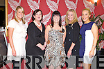 Member's of the Kerry Ladies football committee enjoying their awards night at the Ballyroe Heights hotel on Saturday l-r: Sharon O'Keeffe (treasurer), Marion O'Connor (registar), Mary Courtney (assistant treasurer), Christina Murphy (C.P.O.) and Mellissa O'Callaghan (secretary).