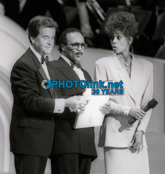 Dick Clark Quincy Jones Whitney Houston Undated<br /> Photo By John Barrett/PHOTOlink