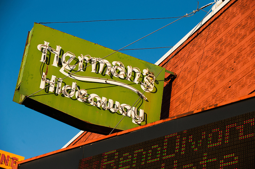 11/15/12 - general exterior view of Herman's Hideaway bar and concert venue at 1578 South Broadway.