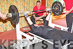 Fiach Whealan, Oakpark, Tralee competing in the Kerry Bench Press Championship at the Earl of Desmond hotel on Sunday.