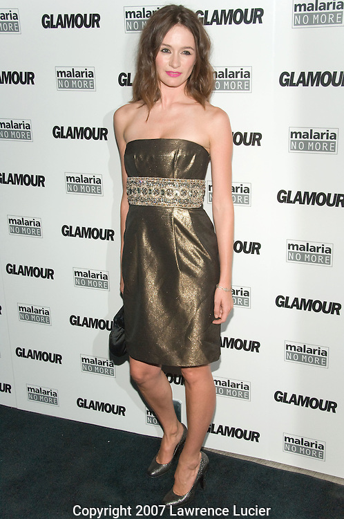 "NEW YORK - SEPTEMBER 04:  Actress Emily Mortimer arrives at Glamour Magazine's ""Fashion Gives Back"" party September 4, 2007, at 421 Broome St in New York City.  (Photo by Lawrence Lucier)"