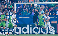 Carson, CA - Saturday July 29, 2017: Brian Rowe during a Major League Soccer (MLS) game between the Los Angeles Galaxy and the Seattle Sounders FC at StubHub Center.