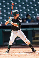 Hawaii Rainbow Warriors outfielder Alan Baldwin (6) at bat during Houston College Classic against the Baylor Bears on March 6, 2015 at Minute Maid Park in Houston, Texas. Hawaii defeated Baylor 2-1. (Andrew Woolley/Four Seam Images)