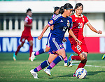 China PR vs Japan during the AFC U-19 Women's Championship China Group B match at the Jiangning Sports Centre Stadium on 22 August 2015 in Nanjing, China. Photo by Aitor Alcalde / Power Sport Images