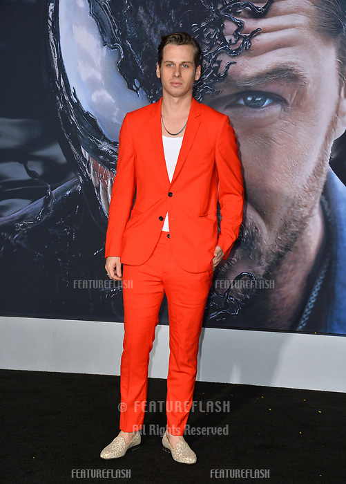 LOS ANGELES, CA. October 01, 2018: Mark Foster at the world premiere for &quot;Venom&quot; at the Regency Village Theatre.<br /> Picture: Paul Smith/Featureflash