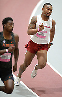 NWA Democrat-Gazette/ANDY SHUPE<br /> Arkansas' Josh Oglesby competes Saturday, Feb. 9, 2019, in the 200 meters during the Tyson Invitational in the Randal Tyson Track Center in Fayetteville. Visit nwadg.com/photos to see more photographs from the meet.