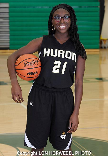 2014-15 Huron High School girl's junior varsity basketball team.