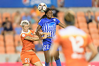 Houston, TX - Saturday July 22, 2017: Janine Van Wyk and Ifeoma Onumonu during a regular season National Women's Soccer League (NWSL) match between the Houston Dash and the Boston Breakers at BBVA Compass Stadium.