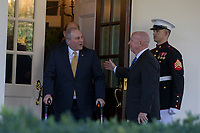 United States House of Representatives Ways and Means Committee Chairman, Representative Kevin Brady, Republican of Texas, right, and United States House of Representatives Majority Whip,Steve Scalise, Republican of Louisiana, left, exit the West Wing of the White House as they prepare to speak with reporters following a meeting between Congressional Republicans and United States President Donald J. Trump where they discussed President Trump's Tax Plan at the White House in Washington, D.C. on November 2nd, 2017. Credit: Alex Edelman / CNP /MediaPunch