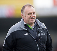 Newcastle Falcons' Head Coach Dean Richards<br /> <br /> Photographer Bob Bradford/CameraSport<br /> <br /> Anglo Welsh Cup Semi Final - Exeter Chiefs v Newcastle Falcons - Sunday 11th March 2018 - Sandy Park - Exeter<br /> <br /> World Copyright &copy; 2018 CameraSport. All rights reserved. 43 Linden Ave. Countesthorpe. Leicester. England. LE8 5PG - Tel: +44 (0) 116 277 4147 - admin@camerasport.com - www.camerasport.com