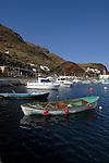Fishing boats and pleasure cruisers, Puerto de la Estaca harbour, El Hierro, Canary Islands, Spain