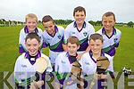 HURLING: Enjoying the hurling at the GAA Cu?l Camp in Lixnaw last week were front l-re: Cillian Mullins, Colin Sheehy, Jason Keane. Back l-r: Conor O'Keeffe, Tom Foley, Jeremy McKenna, Liam Mullins.