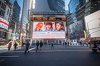 The Walgreens drug store at One Times Square in New York is seen on Tuesday, December 20, 2016. Walgreens Boot Alliance received approval for their acquisition of the Rite Aid pharmacy chain contingent on the sale of 865 <br /> Rite Aid stores. The pharmacy chain Fred's will be buying the stores for $950 million. The purchase catapults Fred's, which operates 650 discount stores primarily in the Southeast with 80% containing pharmacies, into one of the largest pharmacy chains in the country. (&copy; Richard B. Levine)