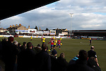 Dagenham and Redbridge 1 Burton Albion 3, 21/02/2015. Victoria Road, League Two. Supporters on the North terrace. Burton Albion moved to the top of League Two following a hard-fought win over Dagenham & Redbridge played in-front of 1,718 supporters. Photo by Simon Gill.
