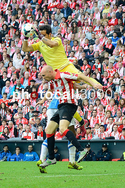 Football macht during La Liga BBVA.<br /> Athletic Club - Real Sociedad<br /> claudio bravo<br /> tokero