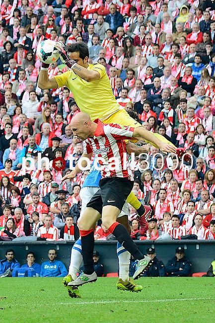 Football macht during La Liga BBVA.<br /> Athletic Club - Real Sociedad<br /> claudio bravo<br /> tokero
