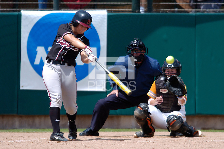 28 May 2005: Erin Howe during Stanford's 6-0 loss to the University of Tennessee in the NCAA Softball Super Regional at Jill and Boyd Smith Family Stadium in Stanford, CA.
