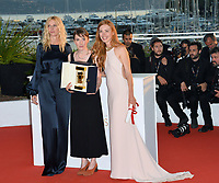 Sandrine Kiberlain, Leonor Serraille &amp; Laetitia Dosch at the Palme d'Or Awards photocall for the 70th Festival de Cannes, Cannes, France. 28 May 2017<br /> Picture: Paul Smith/Featureflash/SilverHub 0208 004 5359 sales@silverhubmedia.com