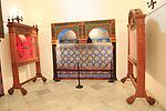 Islamic tile display Casa y Torre de las Ciguenas, in medieval old town, Caceres, Extremadura, Spain