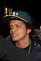 Bruno Mars greets fans after watching the Tokyo Sumo Tournament