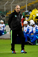 PALMIRA-COLOMBIA-27-04-2018: Gerardo Pelusso, técnico de Deportivo Cali, durante partido entre Deportivo Cali y Atlético Bucaramanga, de la fecha 18 por la liga Aguila I 2018, jugado en el estadio Deportivo Cali (Palmaseca) en la ciudad de Palmira. / Gerardo Pelusso, coach of Deportivo Cali, during a match between Deportivo Cali and Atletico Bucaramanga, of the 18th date for the Liga Aguila I 2018, at the Deportivo Cali (Palmaseca) stadium in Palmira city. Photo: VizzorImage  / Nelson Rios / Cont.