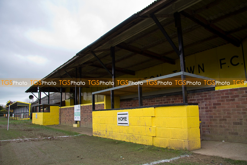 The main stand & dugouts at Littlehampton Town FC - Littlehampton Town vs Hanworth Villa - FA Challenge Vase Second Round Football at the The Sportsfield, St Floras Road, Littlehampton, West Sussex - 17/11/12 - MANDATORY CREDIT: David Bauckham / TGSPHOTO/ CENTRE CIRCLE PUBLISHING - contact@tgsphoto.co.uk - NO UNPAID USE.